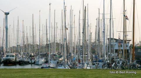 Behalve op Texel was het ook topdrukte in de havens van Vlieland en Terschelling