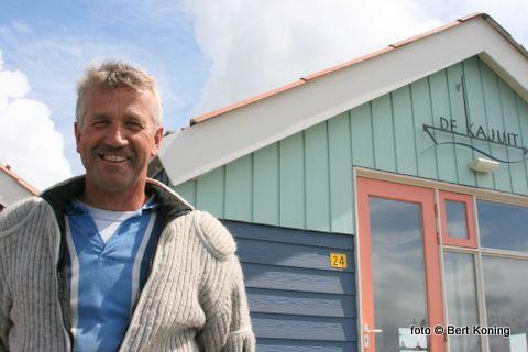 'Hij is onderweg' aldus de eigenaar en bouwer uit Schagen. Hier op de kade bij de verenigingshaven.