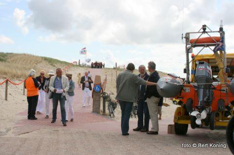 Station De Koog was ook aanwezig met de truck en de reddingboot Zalm om nog wat leden te werven voor de Club van 100 Stations Texel.