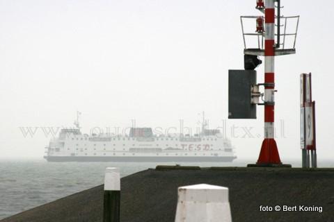 De afglopen dagen was de veerboot Schulpengat vanTESO regelmatig te zien voor de haven van Oudeschild. Met diversen vaarploegen van de veerdienst werden op de Texelstroom weer de jaarlijkse veiligheidstraningen gehouden.