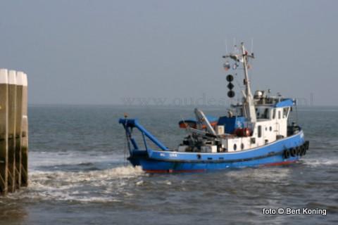 Sinds deze week wordt er weer gebaggerd bij veerhaven van TESO op 't Horntje en de haven van Oudeschild. De Aquarius brengt bij beide havens de toegangsgeul weer op diepte.