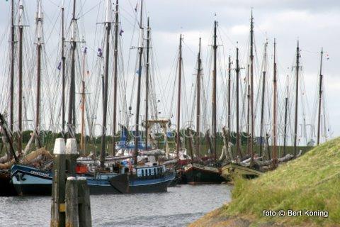 Afgelopen dinsdagavond beleefde de haven van Oudeschild sinds tijden weer een flinke drukte met de bruine vloot. Zo'n veertig vaartuigen kozen mede door de de gunstige noordooster voor een overnachting op Oudeschild. Behalve Texel is deze week ook Terschelling met het Oeral in trek bij de bruine vloot.