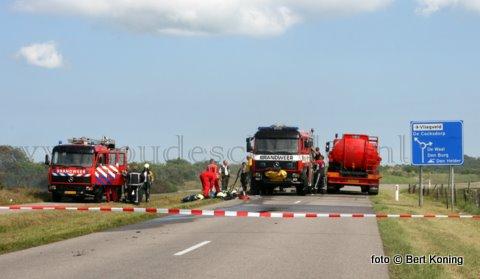 Vrijdagmiddag kwam rond 14.00 uur de complete Texelse brandweer en SBB in actie voor een forse heidebrand aan de Ruigedijk nabij De Koog. Bij deze brand ging zo'n duizend vierkante meter heide verloren. Men liet de brand gecontroleerd uitgaan tegen een nabijgelegen weiland. De oorzaak is nog onbekend.