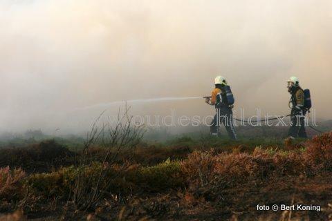 Nadat op de  25 juni al een grote heidebrand uitbrak aan de Ruigedijk nabij de rotonde, was het vanmiddag rond 15.00 uur weer raak. Deze keer betreft het een heidevlakte dichter bij De Koog. De omvang van deze brand is momenteel nog onbekend.
