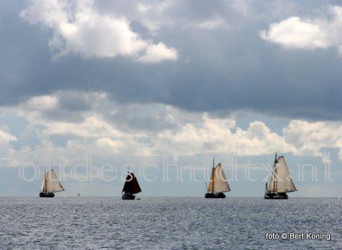 Terwijl dir weekeinde in Amsterdam alles in het teken staat van Sail, beleefde we dit deze week in het klein bij Texl. Na een overnachting op Oudeschild vertrok de bruine vloot weer richting Vlieland, Terschelling of Korwerderzand.
