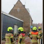storm Dennis met gevelschade Warmoestraat / Radio Texel