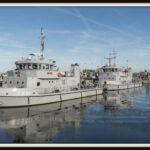 Stockfoto's schepen in de Marinehaven